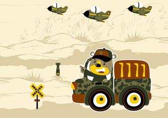 War cartoon. Eps 10