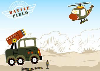 Battlefield cartoon vector. Eps 10