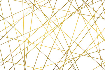 Golden geometric abstract pattern Wall mural