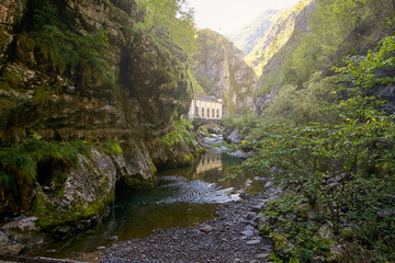 Hydroelectric power station in the mountains of Italy.