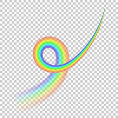 realistic Rainbow isolated on transparent background