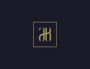 luxury letter AB logo design template