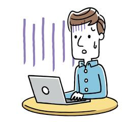 男性:インターネット、パソコン