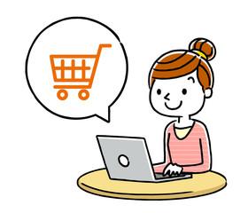 女性:インターネット、ショッピング、買い物