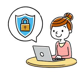 女性:インターネット、セキュリティ