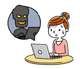 女性:インターネット、犯罪、詐欺