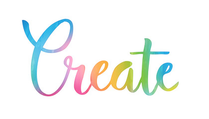 CREATE hand lettering icon
