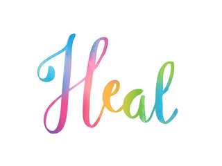 HEAL Watercolour Hand Lettering Icon