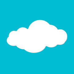 Cloud vector illustration on blue sky vector illustration