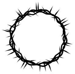 crown of thorns, easter religious symbol of Christianity hand drawn vector eps 10