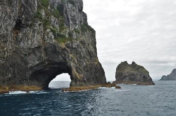 Hole in the rocks in bay of islands