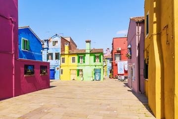 colorful houses Burano Island, Venice