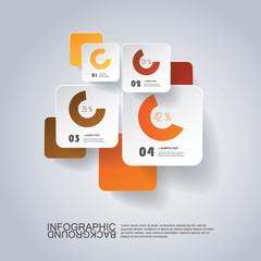 Infographic Design - Round Square Design with Diagrams