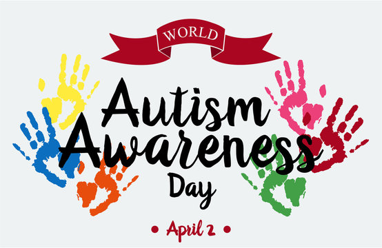 World Autism Awareness Day card or background. vector illustration.