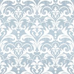 blue seamless wallpaper pattern. Classic vintage pattern. Damask wallpaper