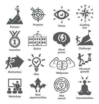 Business management icons Pack 41