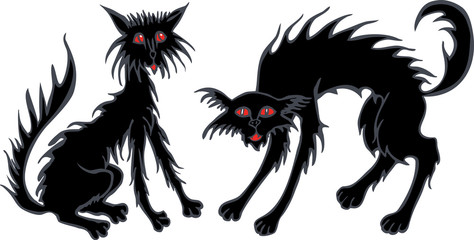 The black halloween cats
