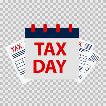 Tax day icon back