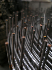 texture of rusty rods