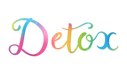 DETOX hand lettering icon