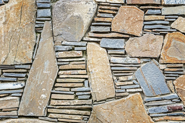 Natural gray stone wall texture