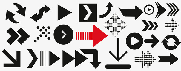 arrows vector collection black. Different black Arrows icons,vector set. Abstract elements for business infographic.