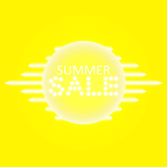 Sale glowing neon sign on the transparent background. Light vector background for your advertise, discounts and business