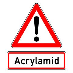 ncsc48 NewCombinationSignCaution ncsc - Achtung - Ausrufezeichen / dreieckig - german text:  Acrylamid - g5952