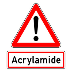 ncsc49 NewCombinationSignCaution ncsc - Warning - exclamation point / triangular - english text: Acrylamide - e5952