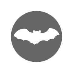 Vampire bat silhouette. Vector icon.