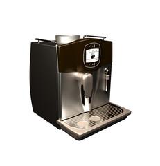 black espresso machine isolated on white