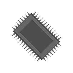 Semiconductor microchip icon. Vector.