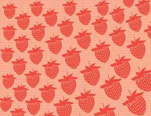 Strawberries vector background