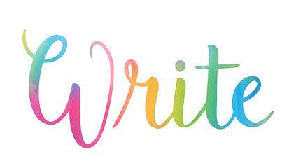 WRITE colourful vector letters icon