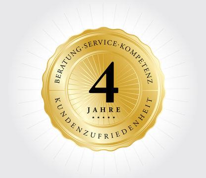4 Jahre Kundenzufriedenheit Gold