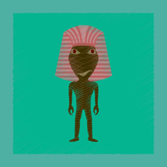 flat shading style icon mummy halloween monster
