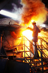 Varese Italy, steel industry production, foundry