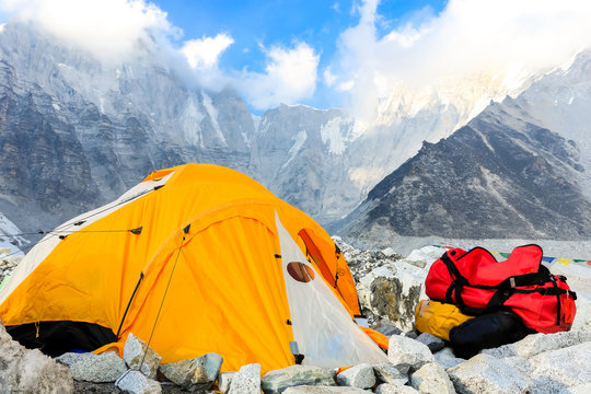 Trekking to Everest Base Camp in Nepal..