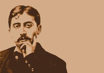 Proust - écrivain - portrait - personnage célèbre - littérature -romancier - roman - célèbre