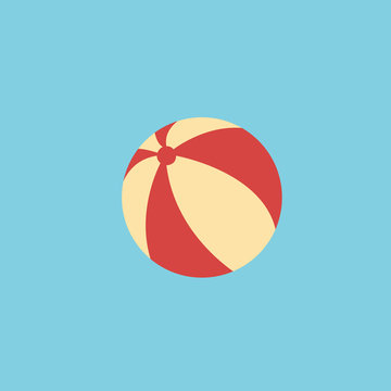 ball beach vector icon for app and website