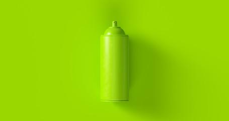 Green Spray Can 3d illustration