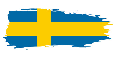 Sweden brush flag, vector