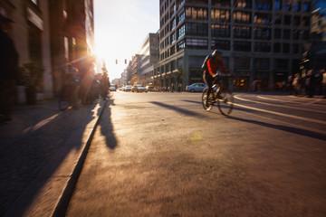 Bicycle speeding on Berlin street