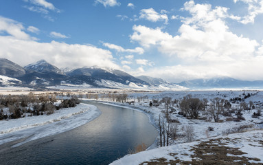Snowy River Bend in Montana