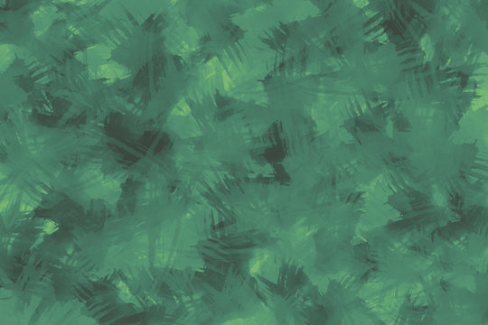 Teal and Green Brush Stroked Background