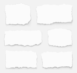 Set of torn paper different shapes. collection of ripped paper. Vector illustration