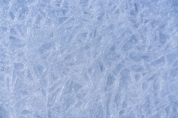 frost patterns on ice. Beauty in nature