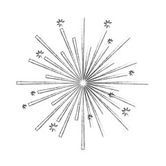 fireworks stars starburst effect image vector illustration sketch