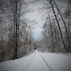 snowy railway