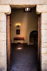 Light beam in prayer room